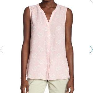 "NYDJ Sleeveless Pintuck Blouse in ""primrose pink"""